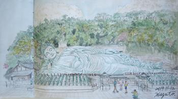 篠栗、南蔵院の釈迦涅槃像.jpg